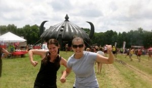 Kate and Anne at Warrior Dash 2011.