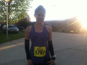 Here I am before running my BQ race.